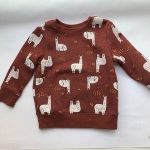 Cat & Jack 2T llama sweatshirt